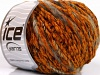 Chenille Wool Flamme Orange Brown Shades Black