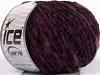 Chenille Wool Flamme Rojo Púrpura Negro