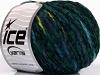 Chenille Wool Flamme Turquesa Luz verde Jeans Blue Verde oscuro