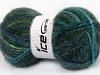 Alpine Angora Color Turquoise Navy Green SuperBulky