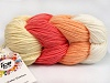 Art Color Cotton Hvit laks lys Salmon Krem