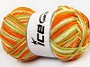Natural Cotton Color Worsted Blanco Naranja Sombras verdes