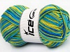 Natural Cotton Color Worsted Sombras verdes Tonos azules