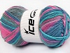 Natural Cotton Color Worsted Turquesa Rosa Gris Azul