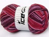 Natural Cotton Color Worsted Rojo Tonos de color rosa Granate