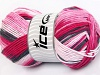 Natural Cotton Color Worsted Pink Shades Black