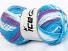 Natural Cotton Color Worsted Turquoise Shades Lilac