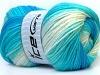 Baby Batik White Turquoise Shades