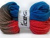 Hand-Dyed Wool Bulky Red Camel Blue