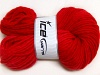 Hand-Dyed Wool Cord Red