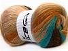 Angora Color Glitz Turquoise Cream Brown