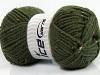 Wool Tweed Superbulky Dark Khaki