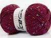Wool Tweed Superbulky Burgundy