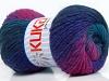 Magic Wool DeLuxe Turquoise Purple Fuchsia Dark Grey