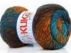 Magic Wool DeLuxe Turquoise Gold Brown