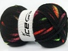 AirWool Bulky Spots Neon Colors Black