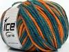 Superwash Wool Bulky Color Teal Orange