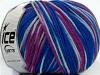 Superwash Wool Color Purple Blue Shades