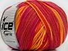 Superwash Wool Color Yellow Salmon Orange Fuchsia