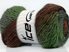 Marvelous Pure Wool Grey Shades Green Brown