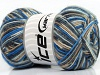 Mini Sock White Grey Cream Blue