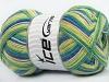 Magic Sock Yellow White Turquoise Lilac Green