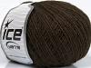 Wool Cord Fine Dark Brown