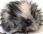 Diameter around 7cm (3&amp) White, Yarn Thickness Other, Brand Ice Yarns, Grey Shades, acs-547