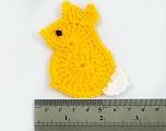Bunny 100% Acrylic knitted item. Size: 9cm x 5cm Brand ICE, acs-1040