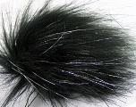 Diameter around 7cm (3&amp) Silver, Brand Ice Yarns, Black, acs-1138