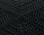 Fiber Content 67% Cotton, 33% Polyester, Brand Ice Yarns, Black, Yarn Thickness 2 Fine  Sport, Baby, fnt2-49623