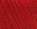 Ne: 10/3 Nm: 17/3 Fiber Content 96% Mercerised Cotton, 4% Metallic Lurex, Silver, Red, Brand Ice Yarns, Yarn Thickness 1 SuperFine  Sock, Fingering, Baby, fnt2-49855