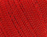 Ne: 10/3 Nm: 17/3 Fiber Content 96% Mercerised Cotton, 4% Metallic Lurex, Red, Brand Ice Yarns, Gold, Yarn Thickness 1 SuperFine  Sock, Fingering, Baby, fnt2-49856