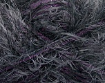 Fiber Content 57% Acrylic, 40% Polyamide, 3% Lurex, Purple, Brand Ice Yarns, Grey, Black, Yarn Thickness 5 Bulky  Chunky, Craft, Rug, fnt2-50622