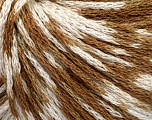 Fiber Content 100% Acrylic, White, Brand Ice Yarns, Brown, Yarn Thickness 3 Light  DK, Light, Worsted, fnt2-50785