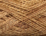 Fiber Content 45% Acrylic, 45% Cotton, 10% Polyamide, Light Brown, Brand Ice Yarns, fnt2-51105