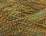 Fiber Content 75% Superwash Wool, 25% Polyamide, Brand Ice Yarns, Green Shades, Brown Shades, fnt2-51251