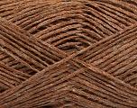 Fiber Content 47% Acrylic, 35% Linen, 18% Polyamide, Brand Ice Yarns, Copper, Yarn Thickness 2 Fine  Sport, Baby, fnt2-51351
