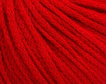 Fiber Content 50% Wool, 50% Acrylic, Red, Brand ICE, Yarn Thickness 4 Medium  Worsted, Afghan, Aran, fnt2-51391