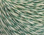 Fiber Content 60% Wool, 40% Acrylic, Brand Ice Yarns, Green, Cream, fnt2-52106