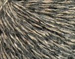 Fiber Content 9% Mohair, 42% Wool, 23% Polyamide, 15% Viscose, 11% Acrylic, Brand Ice Yarns, Grey, Beige, fnt2-52164