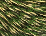 Fiber Content 60% Wool, 40% Acrylic, Yellow, Brand Ice Yarns, Green Shades, fnt2-52225