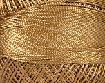 Fiber Content 100% Micro Fiber, Brand YarnArt, Dark Gold, Yarn Thickness 0 Lace  Fingering Crochet Thread, fnt2-52259