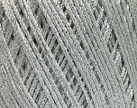 Fiber Content 90% Polyamide, 10% Metallic Lurex, Silver, Brand Ice Yarns, fnt2-52321