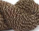 Yarn is hand sheered and all natural undyed wool. Fiber Content 100% Natural Undyed Wool, Brand Ice Yarns, Cream, Brown, Yarn Thickness 4 Medium  Worsted, Afghan, Aran, fnt2-52595