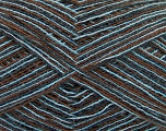 Fiber Content 70% Acrylic, 30% Wool, Turquoise, Brand Ice Yarns, Brown, fnt2-52726