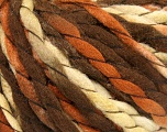 Fiber Content 100% Acrylic, Brand Ice Yarns, Cream, Brown Shades, fnt2-52733