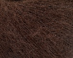 Fiber Content 52% SuperKid Mohair, 35% Polyamide, 13% Superwash Extrafine Merino Wool, Brand Ice Yarns, Dark Brown, Yarn Thickness 1 SuperFine  Sock, Fingering, Baby, fnt2-52757