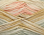 Fiber Content 50% Acrylic, 50% Cotton, Light Salmon, Light Grey, Light Brown, Brand Ice Yarns, Cream, Yarn Thickness 2 Fine  Sport, Baby, fnt2-52916