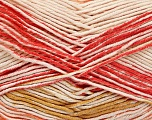Fiber Content 50% Acrylic, 50% Cotton, Pink Shades, Orange, Olive Green, Brand Ice Yarns, Cream, Yarn Thickness 2 Fine  Sport, Baby, fnt2-52917